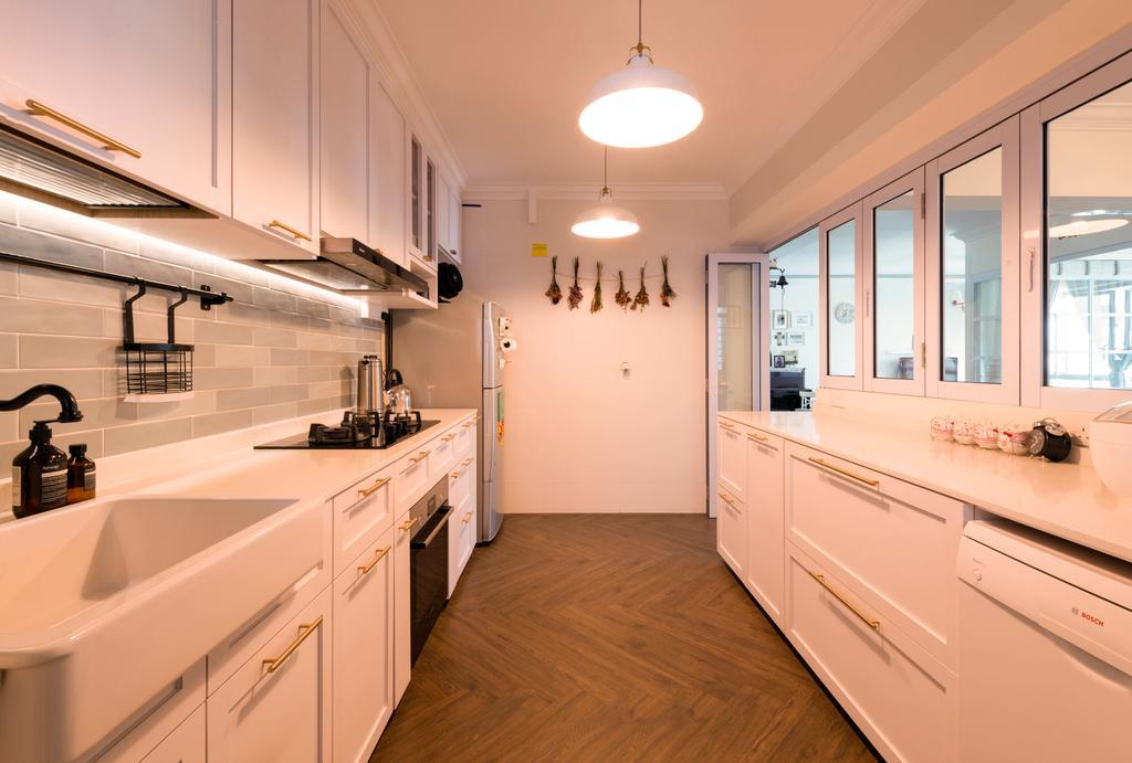 Modern, HDB, Kitchen, Bidadari Park Drive, Interior Designer, Project Guru