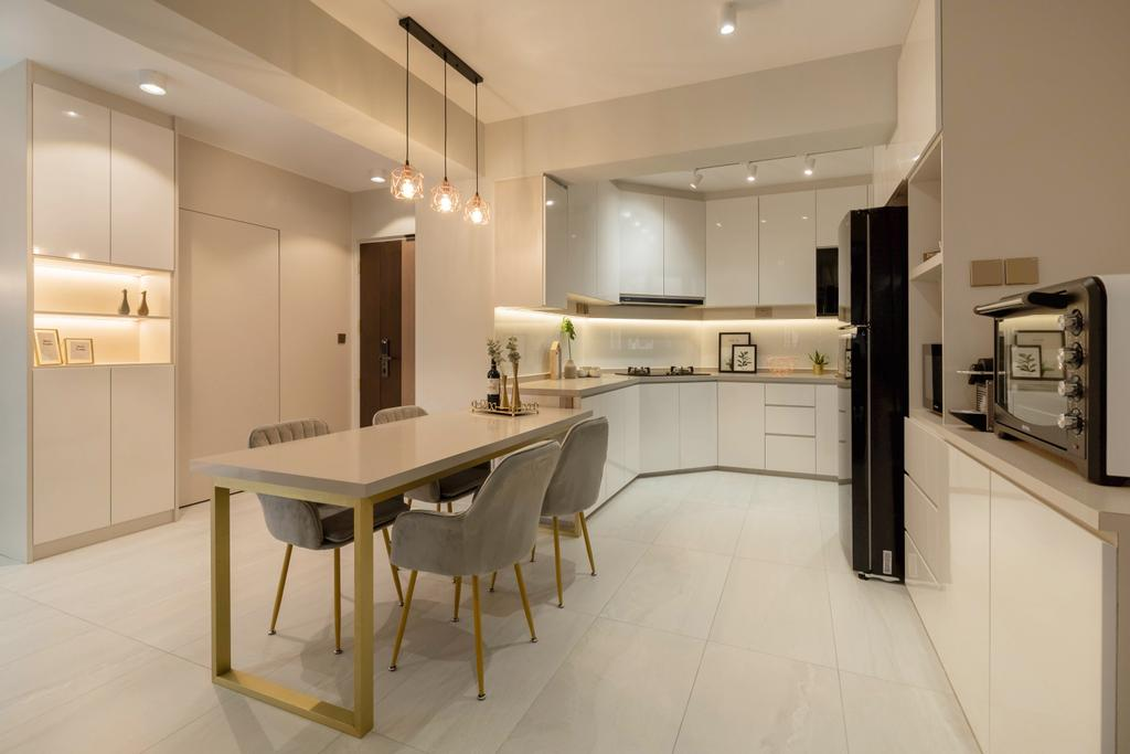 Modern, HDB, Dining Room, Bukit Batok West Avenue 8, Interior Designer, The Makers Design Studio, Scandinavian