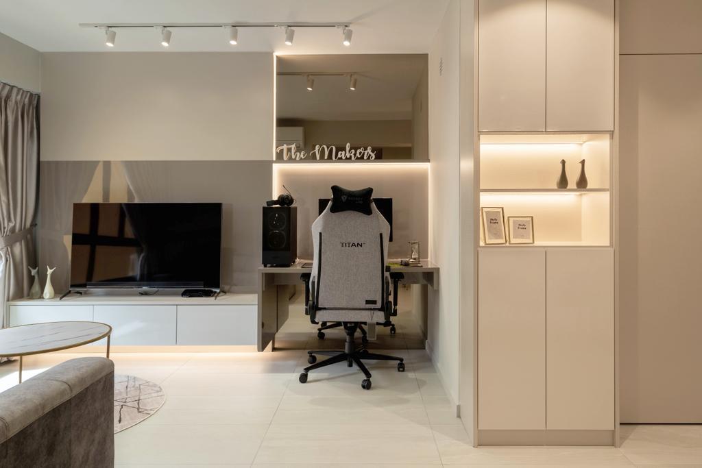 Modern, HDB, Living Room, Bukit Batok West Avenue 8, Interior Designer, The Makers Design Studio, Scandinavian