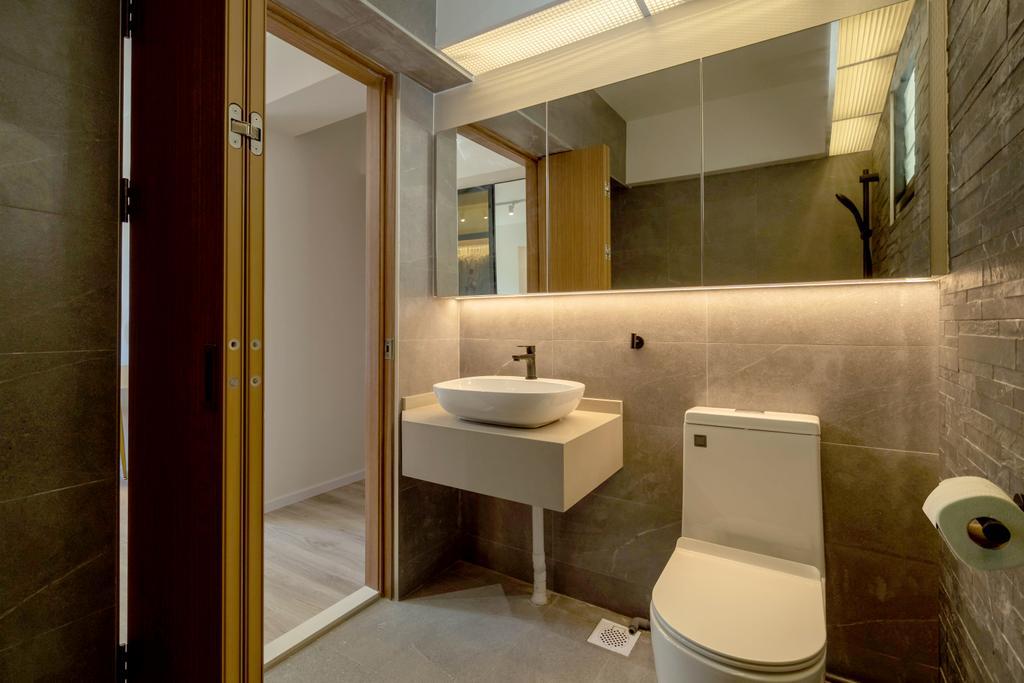 Modern, HDB, Bathroom, Bukit Batok West Avenue 8, Interior Designer, The Makers Design Studio, Scandinavian