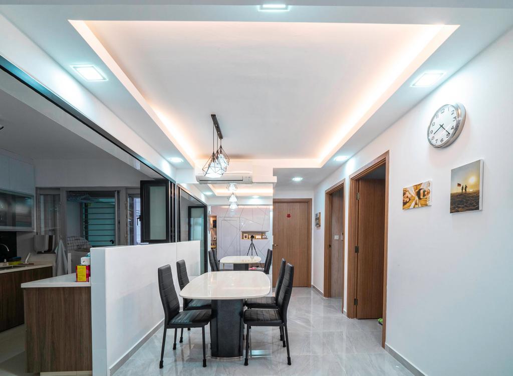 Modern, HDB, Dining Room, Bukit Batok West Avenue 8, Interior Designer, Truehope Interior Design, Contemporary
