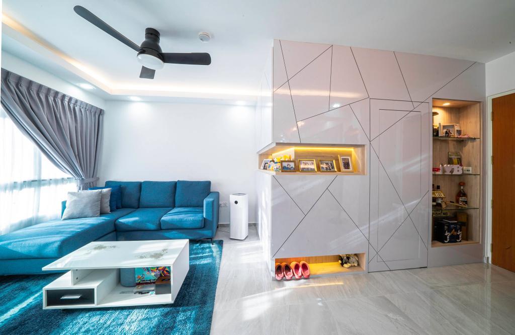 Modern, HDB, Living Room, Bukit Batok West Avenue 8, Interior Designer, Truehope Interior Design, Contemporary