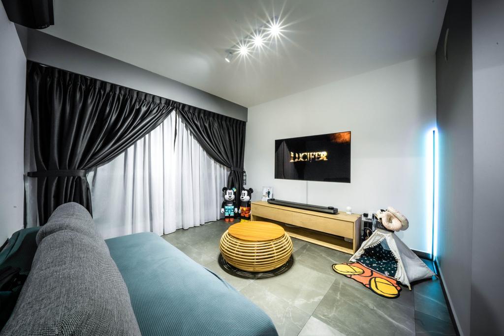 Contemporary, HDB, Living Room, Clementi Avenue 3, Interior Designer, Truehope Interior Design