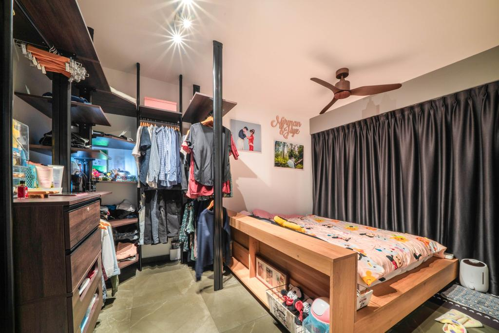 Contemporary, HDB, Bedroom, Clementi Avenue 3, Interior Designer, Truehope Interior Design