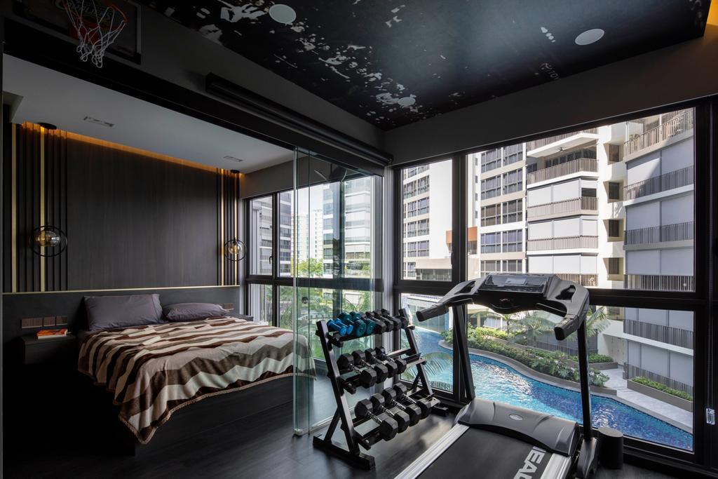 Scandinavian, Condo, Bedroom, Northwave, Interior Designer, Fifth Avenue Interior, Contemporary, Gym, Fitness