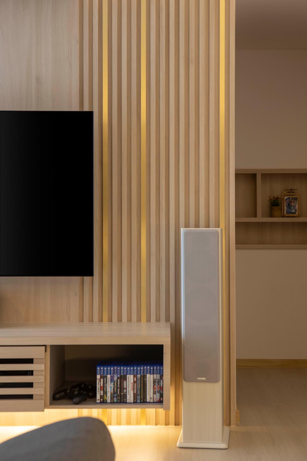 Scandinavian, Condo, Living Room, Northwave, Interior Designer, Fifth Avenue Interior, Contemporary