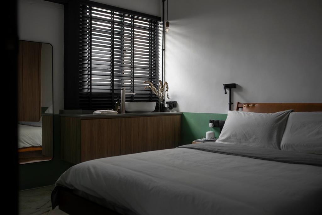 Industrial, HDB, Bedroom, Serangoon Avenue 2, Interior Designer, Ascend Design, Retro