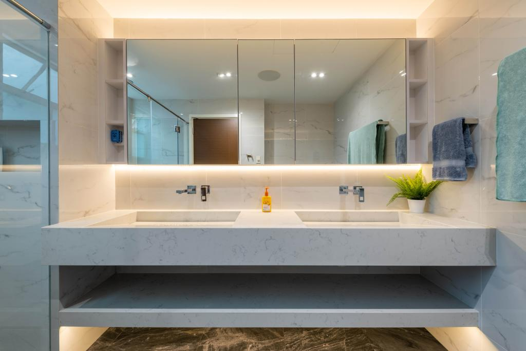 Modern, Condo, Bathroom, Kew Green, Interior Designer, Design Identity, Contemporary
