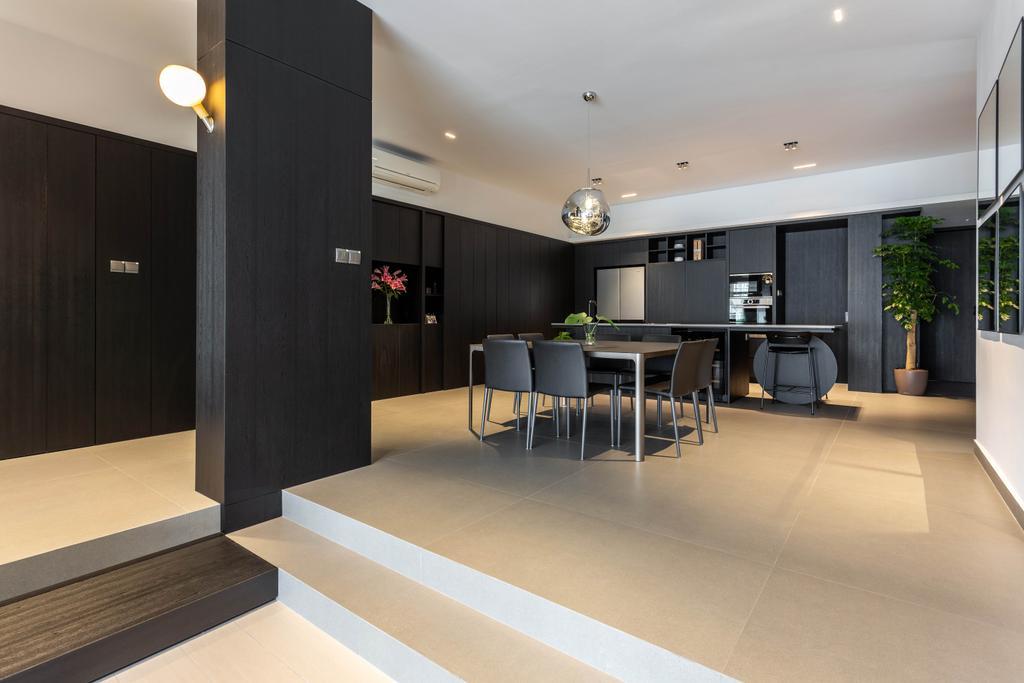 Contemporary, Condo, Dining Room, Trevose Park, Interior Designer, Habit