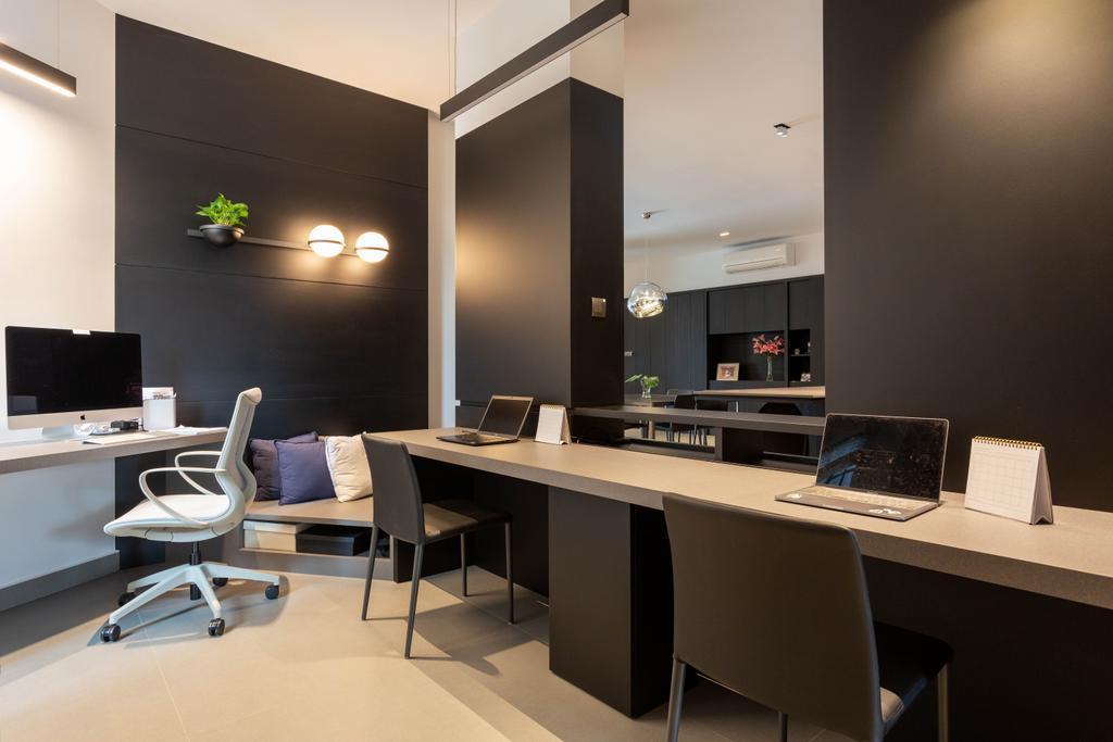 Contemporary, Condo, Study, Trevose Park, Interior Designer, Habit