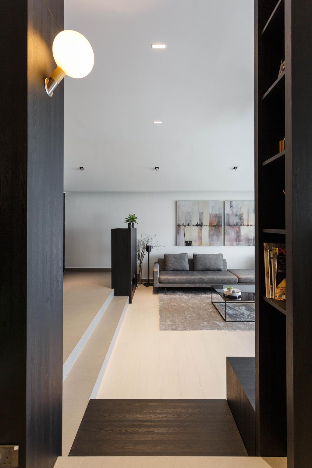 Contemporary, Condo, Living Room, Trevose Park, Interior Designer, Habit