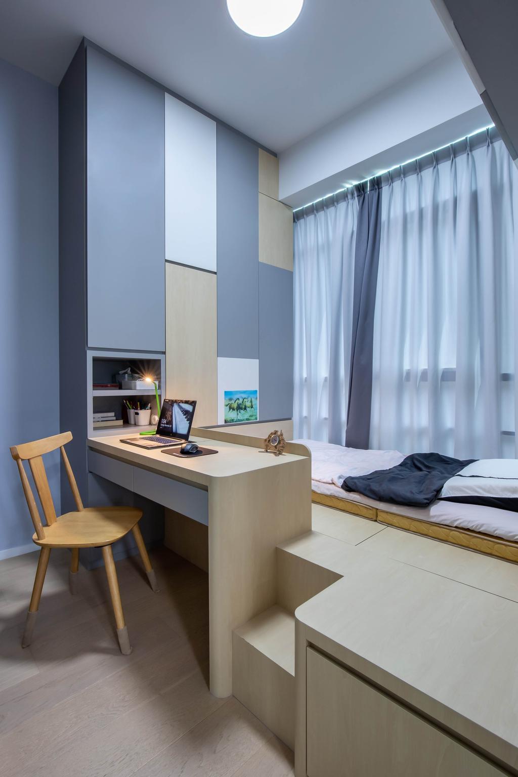 Modern, Condo, Bedroom, Pricipal Garden, Interior Designer, T&T Design Artisan, Scandinavian