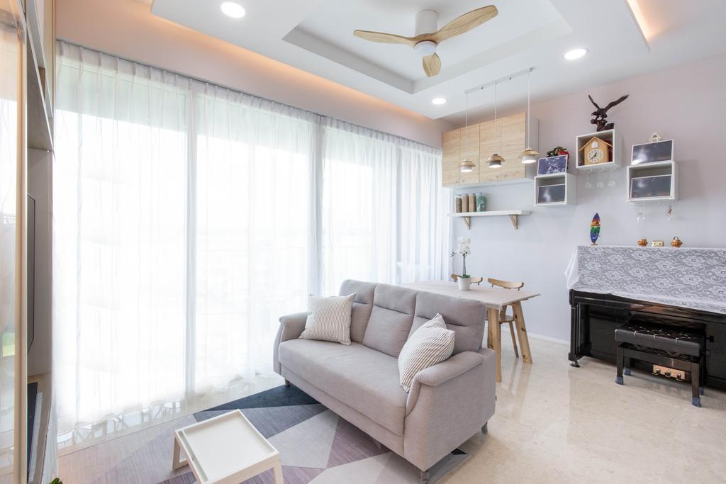 Modern, Condo, Living Room, Pricipal Garden, Interior Designer, T&T Design Artisan, Scandinavian