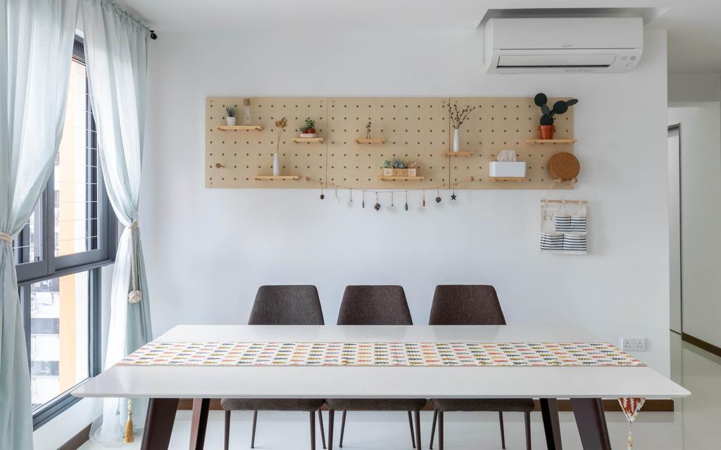 Modern, HDB, Dining Room, Clementi Avenue 3, Interior Designer, Inclover Design