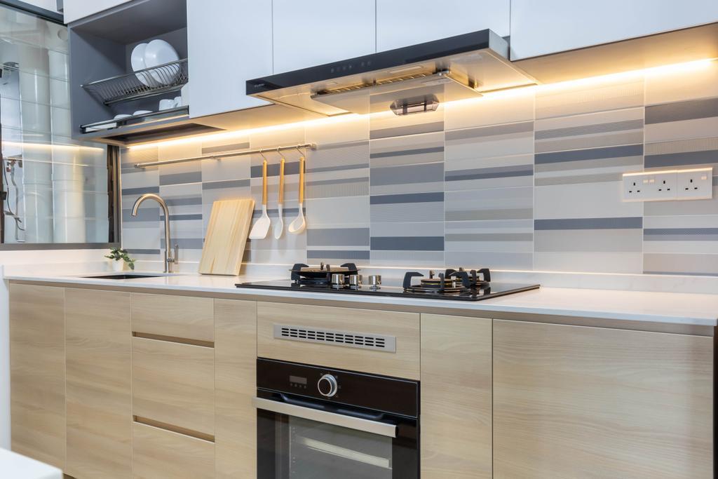 Modern, HDB, Kitchen, Clementi Avenue 3, Interior Designer, Inclover Design