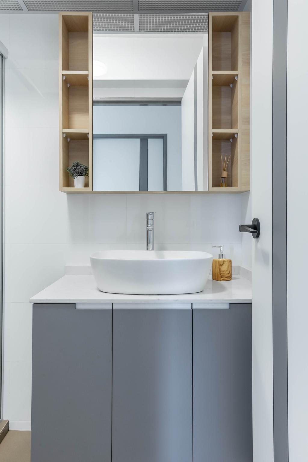 Modern, HDB, Bathroom, Clementi Avenue 3, Interior Designer, Inclover Design