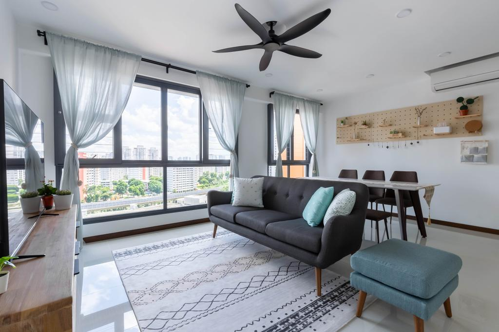 Modern, HDB, Living Room, Clementi Avenue 3, Interior Designer, Inclover Design