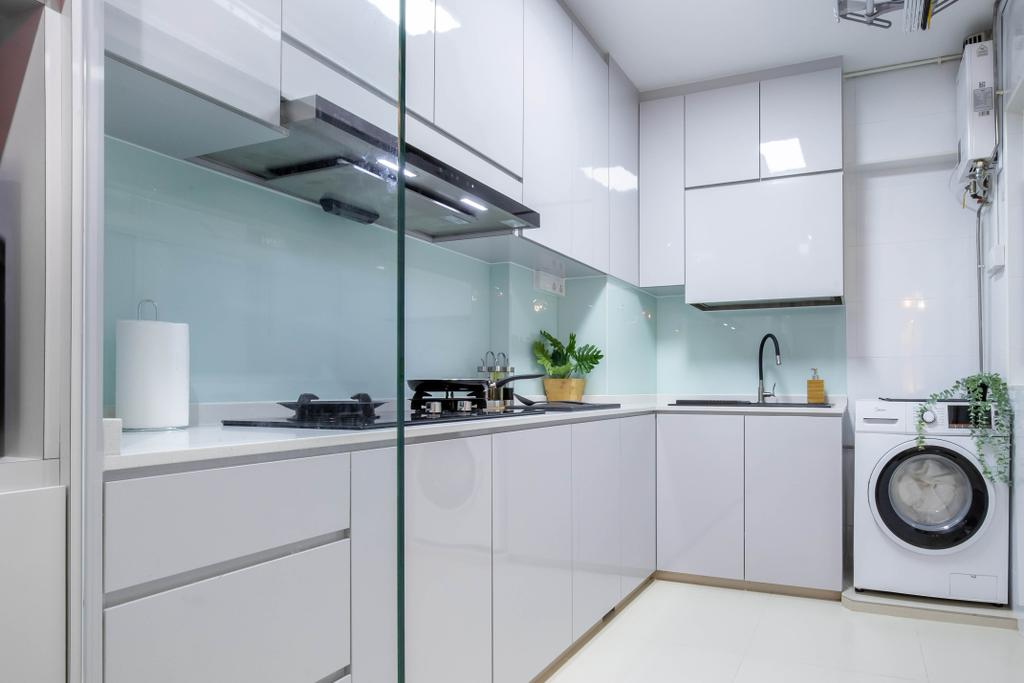 Modern, HDB, Kitchen, Edgefield Plains, Interior Designer, Yang's Inspiration Design, Contemporary