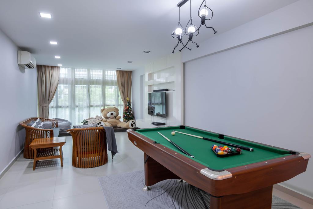 Modern, HDB, Living Room, Edgefield Plains, Interior Designer, Yang's Inspiration Design, Contemporary