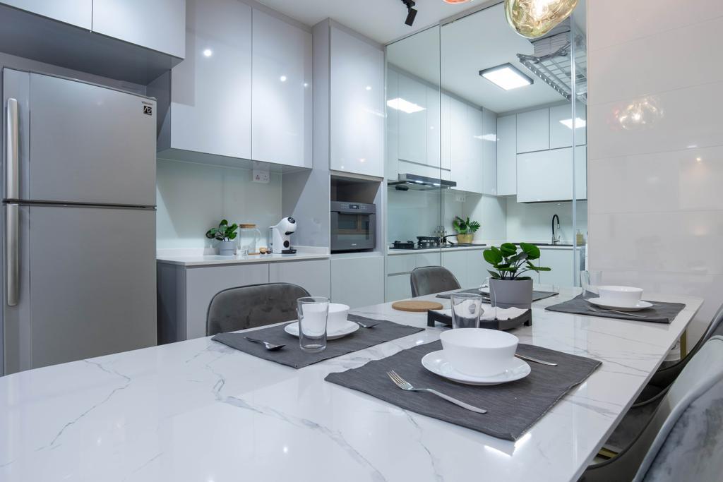 Modern, HDB, Dining Room, Edgefield Plains, Interior Designer, Yang's Inspiration Design, Contemporary
