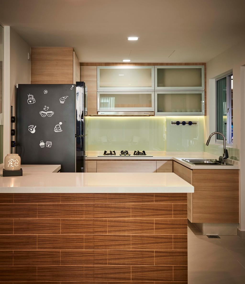 Contemporary, Condo, Kitchen, Aspen Heights, Interior Designer, R+R Design Studio