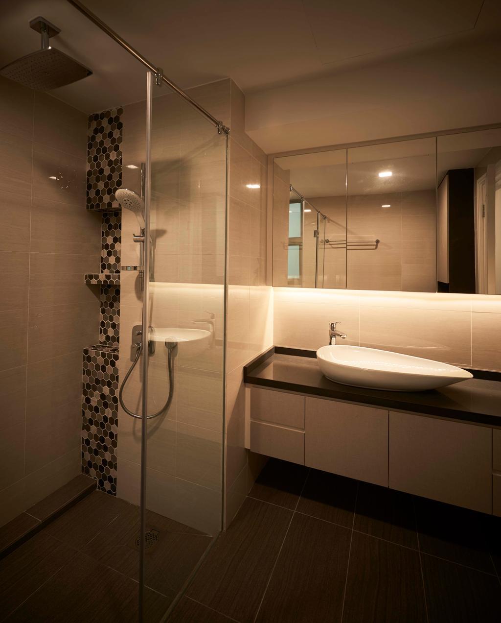 Contemporary, Condo, Bathroom, Aspen Heights, Interior Designer, R+R Design Studio