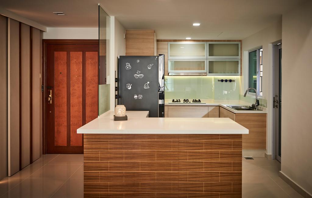 Contemporary, Condo, Kitchen, Aspen Heights, Interior Designer, R+R Design Studio
