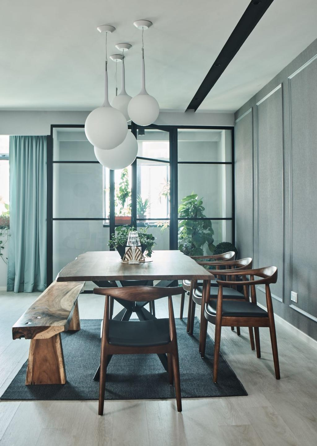 Contemporary, Condo, Dining Room, Mirage Tower, Interior Designer, R+R Design Studio