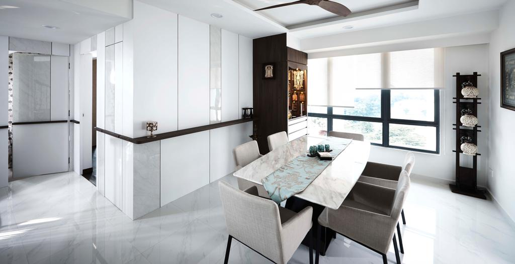 Contemporary, Condo, Dining Room, Aquarius by the Park, Interior Designer, R+R Design Studio