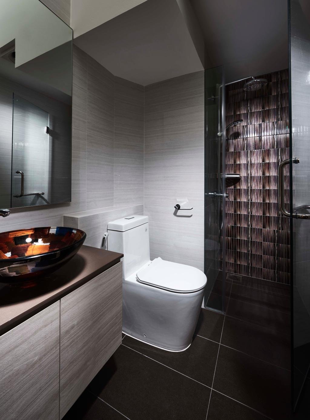 Contemporary, Condo, Bathroom, Aquarius by the Park, Interior Designer, R+R Design Studio