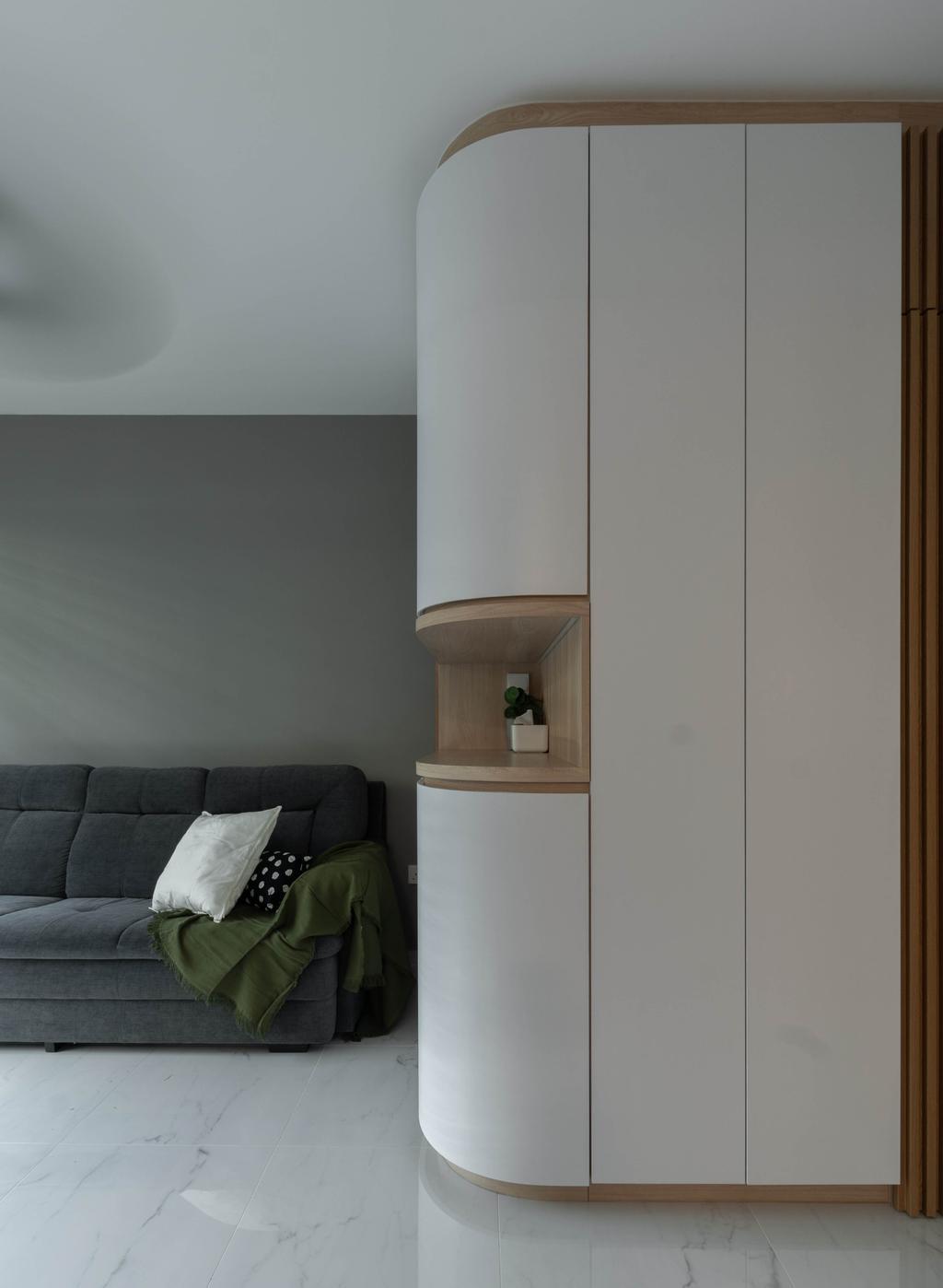 Contemporary, HDB, Living Room, Bedok North Road, Interior Designer, Yang's Inspiration Design