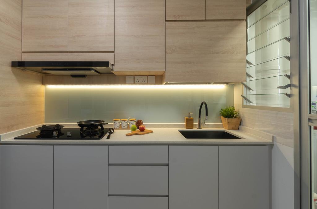 Contemporary, HDB, Kitchen, Bedok North Road, Interior Designer, Yang's Inspiration Design