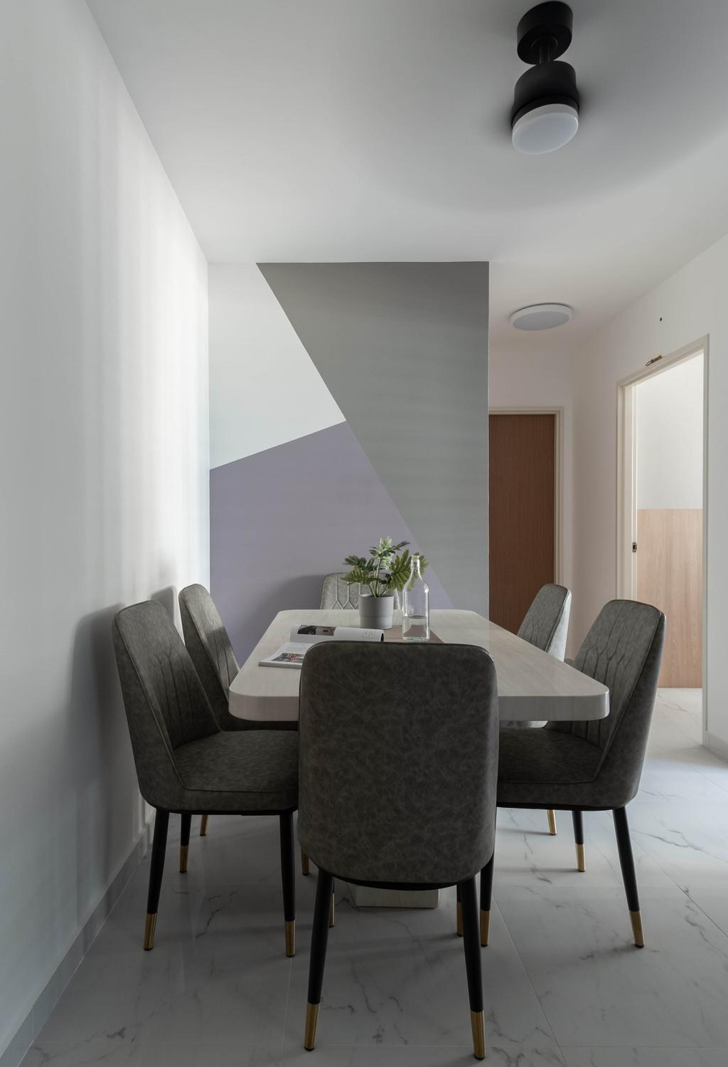 Contemporary, HDB, Dining Room, Bedok North Road, Interior Designer, Yang's Inspiration Design