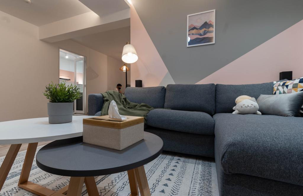 Contemporary, HDB, Living Room, Tampines Street 86, Interior Designer, Yang's Inspiration Design, Scandinavian