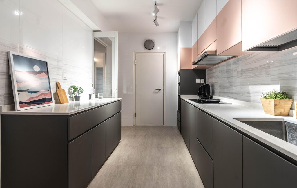 Contemporary, HDB, Kitchen, Tampines Street 86, Interior Designer, Yang's Inspiration Design, Scandinavian