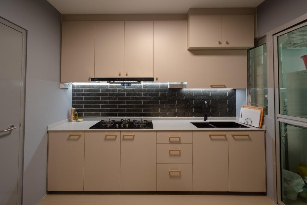 Modern, HDB, Kitchen, Canberra Street, Interior Designer, Brown Studio Interior Design, Contemporary