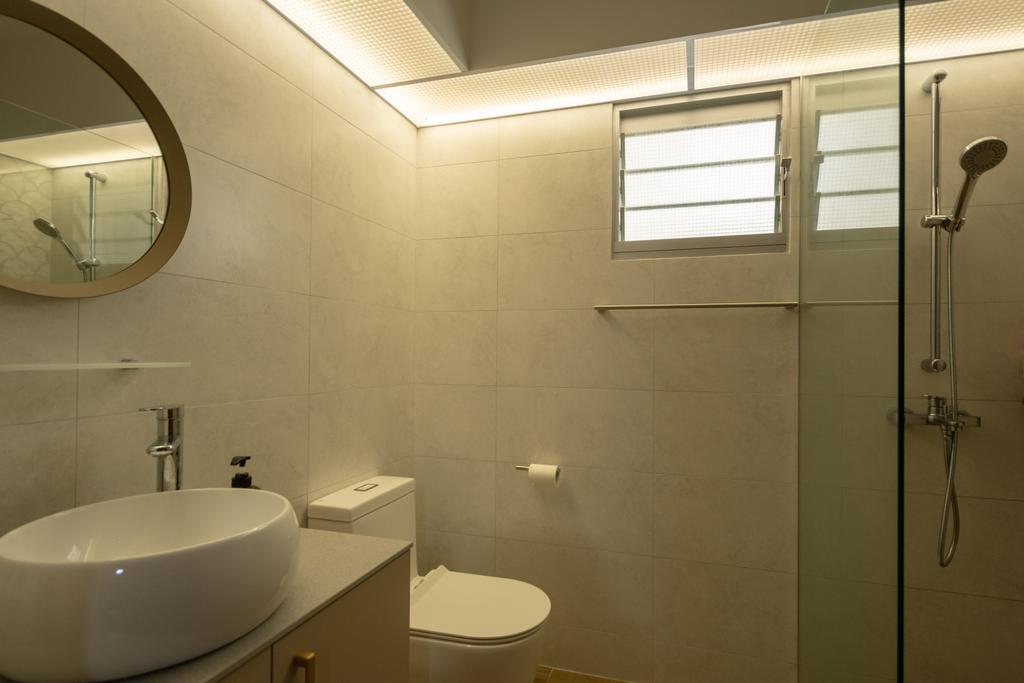 Modern, HDB, Bathroom, Canberra Street, Interior Designer, Brown Studio Interior Design, Contemporary