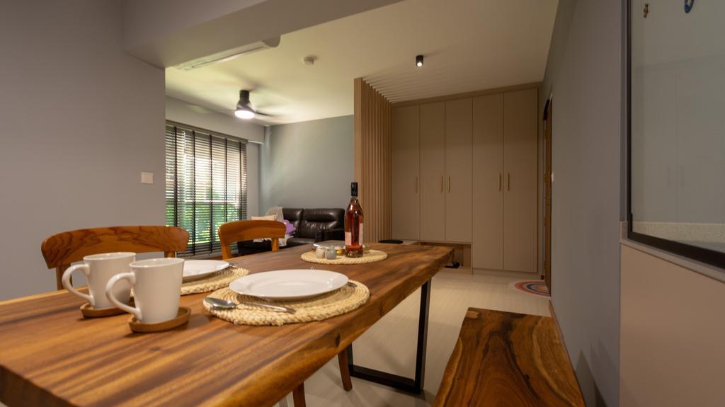 Modern, HDB, Dining Room, Canberra Street, Interior Designer, Brown Studio Interior Design, Contemporary