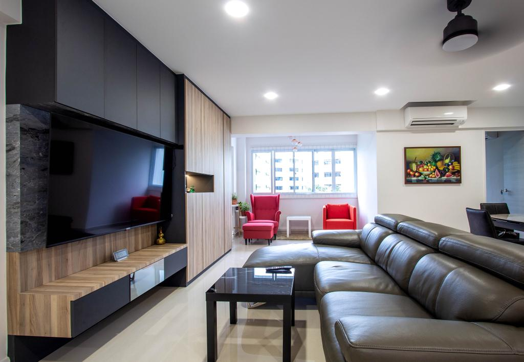 Modern, HDB, Living Room, Woodlands Drive 16, Interior Designer, Design Story