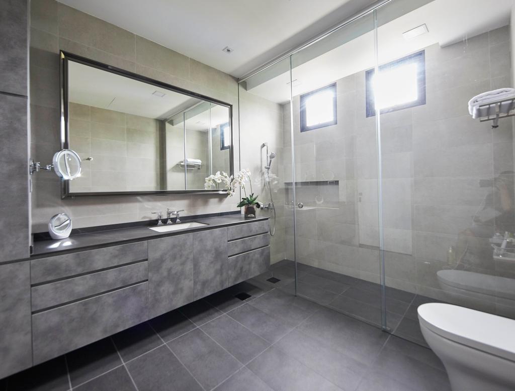 Modern, Landed, Bathroom, Princess of Wales, Interior Designer, The Interior Lab, Contemporary