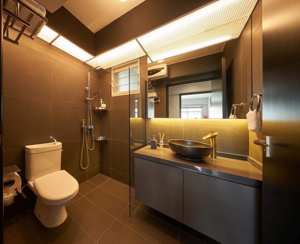 Contemporary, HDB, Bathroom, Sumang Walk, Interior Designer, Aritz Design & Construction
