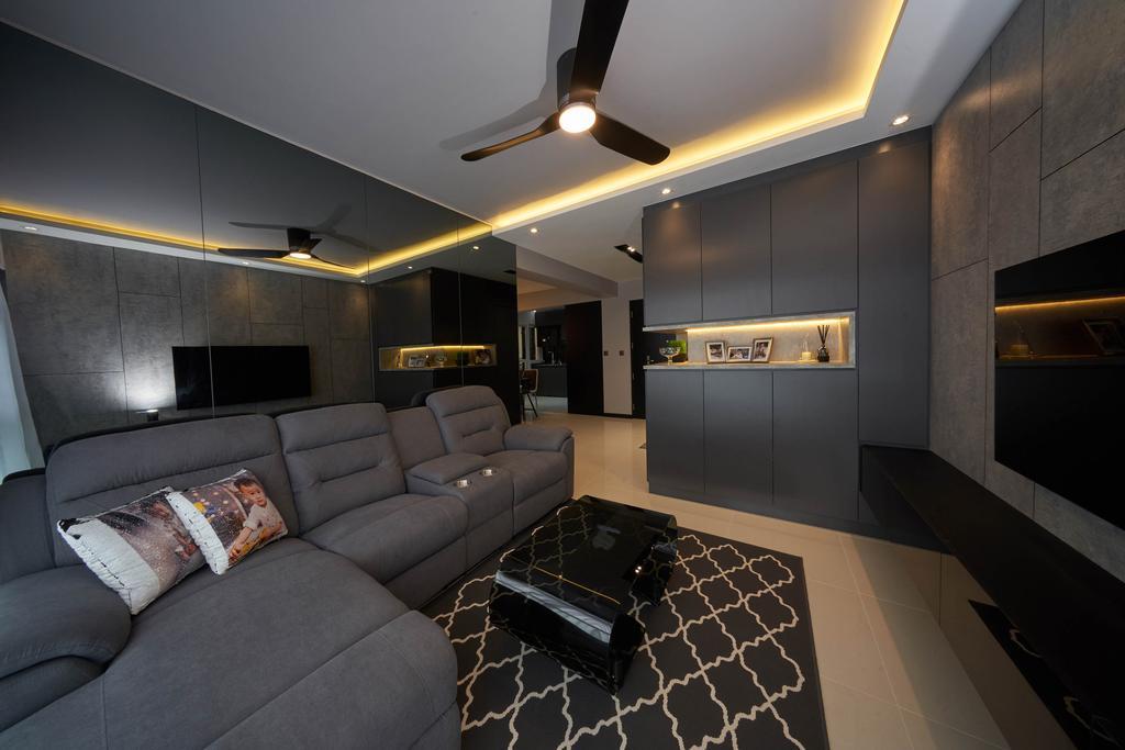 Contemporary, HDB, Living Room, Sumang Walk, Interior Designer, Aritz Design & Construction