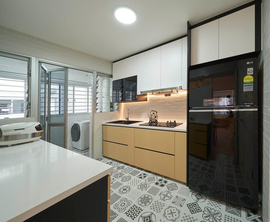 Modern, HDB, Kitchen, Bukit Batok West Avenue 9, Interior Designer, Aritz Design & Construction, Scandinavian