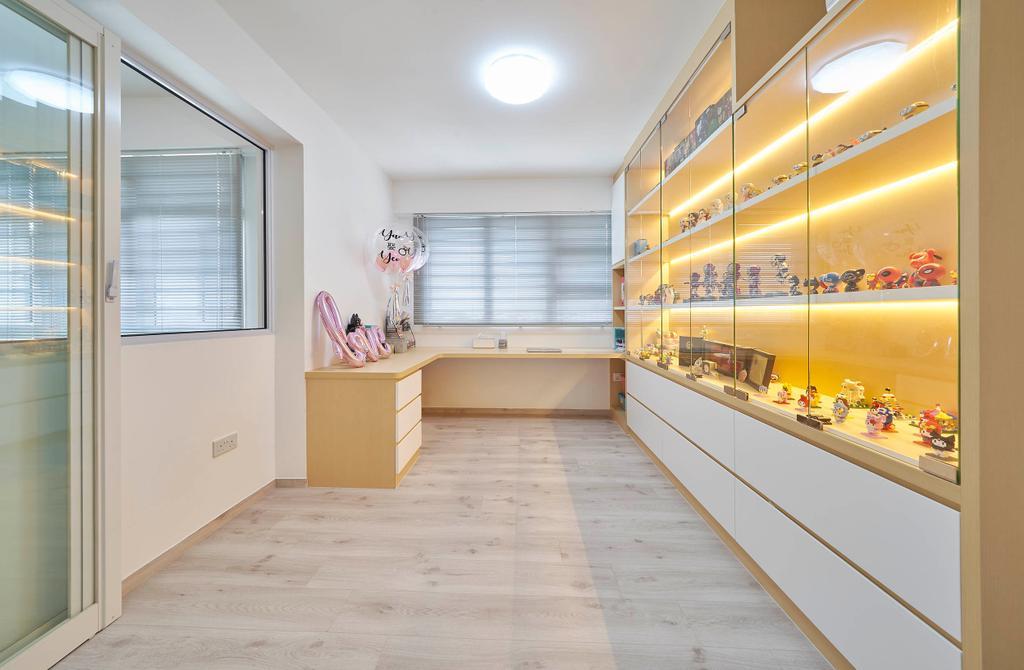 Modern, HDB, Study, Bukit Batok West Avenue 9, Interior Designer, Aritz Design & Construction, Scandinavian