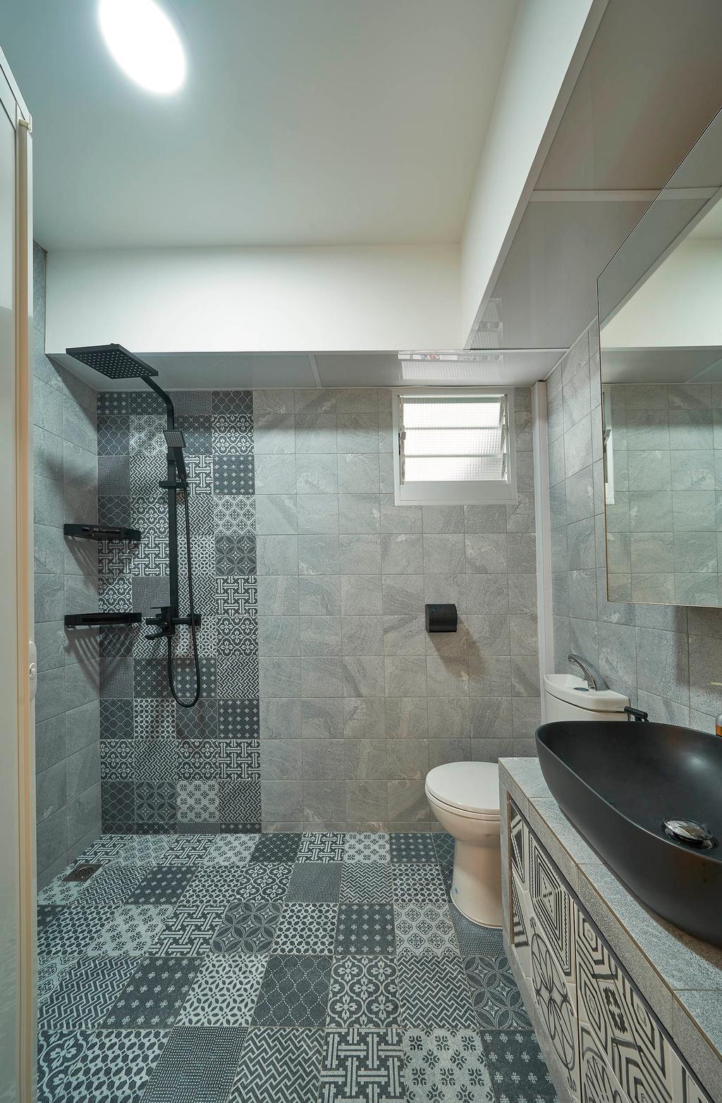 Modern, HDB, Bathroom, Bukit Batok West Avenue 9, Interior Designer, Aritz Design & Construction, Scandinavian