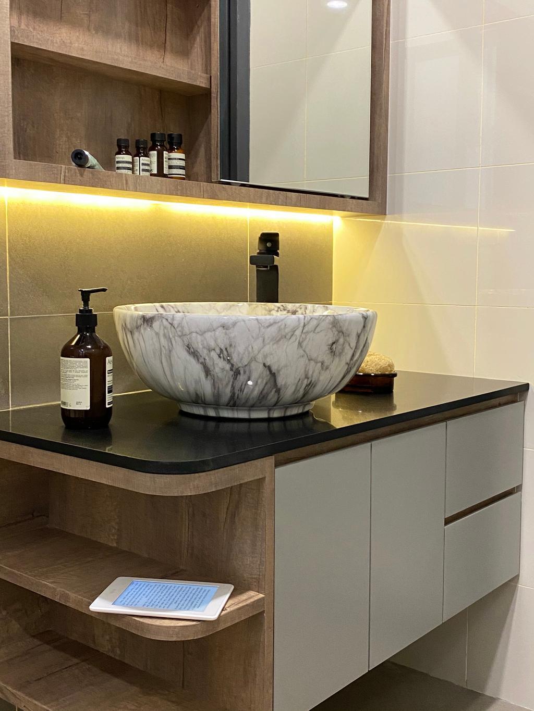 Modern, Condo, Bathroom, Setia Sky Vista Condo, Penang, Interior Designer, Catappa Design Studio, Contemporary