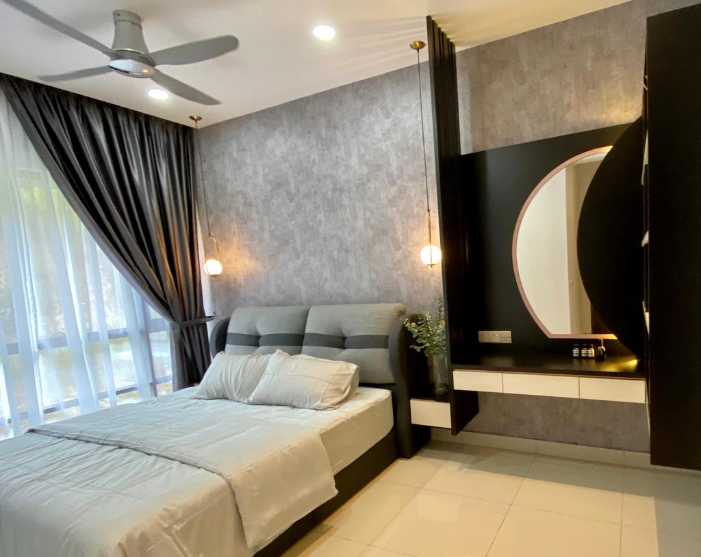 Modern, Condo, Bedroom, Setia Sky Vista Condo, Penang, Interior Designer, Catappa Design Studio, Contemporary