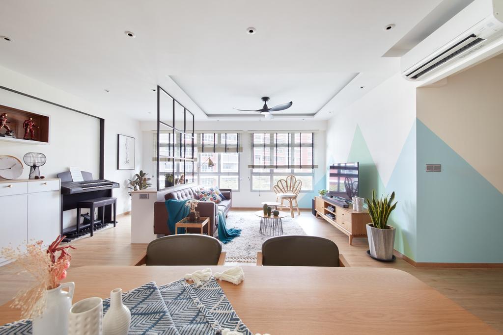 Scandinavian, HDB, Living Room, Bukit Batok West, Interior Designer, Free Space Intent, Pastel