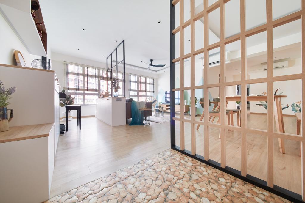 Scandinavian, HDB, Living Room, Bukit Batok West, Interior Designer, Free Space Intent, Shoe Cabinet, Shoe Storage, Settee, Entrance, Foyer