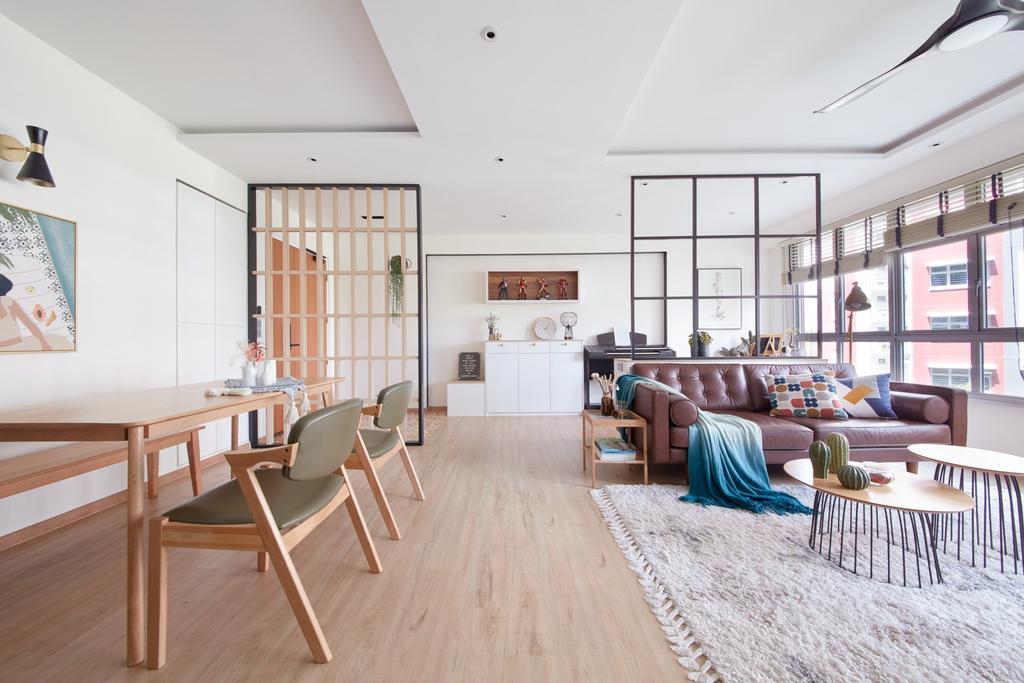 Scandinavian, HDB, Dining Room, Bukit Batok West, Interior Designer, Free Space Intent